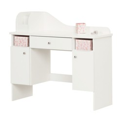 Vito Makeup Desk with Drawer - Pure White - South Shore