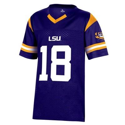 NCAA LSU Tigers Boys' Short Sleeve Jersey