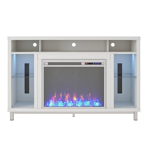 """48"""" Yorkshire Fireplace Tv Stand White - Room & Joy - image 1 of 4"""