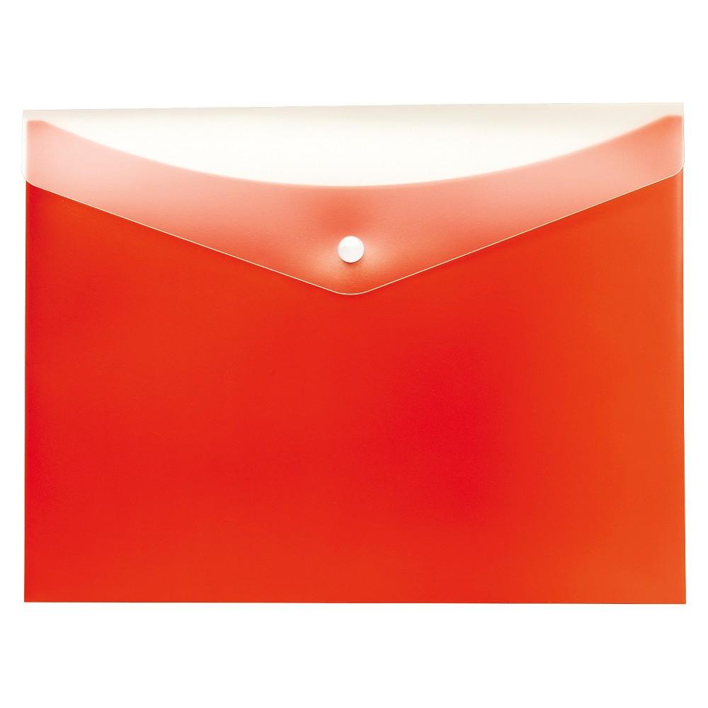 Globe-Weis Poly Snap Envelope, Letter, Tangerine (Orange)