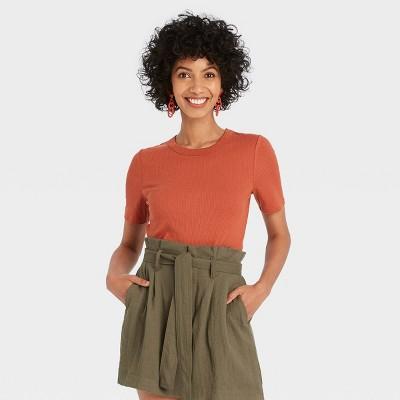 Women's Short Sleeve Rib T-Shirt - A New Day™