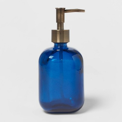 Recycled Glass Soap Pump Blue - Threshold™