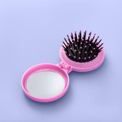 Pop Up Mirror Hair Brush - More Than Magic™ Pink