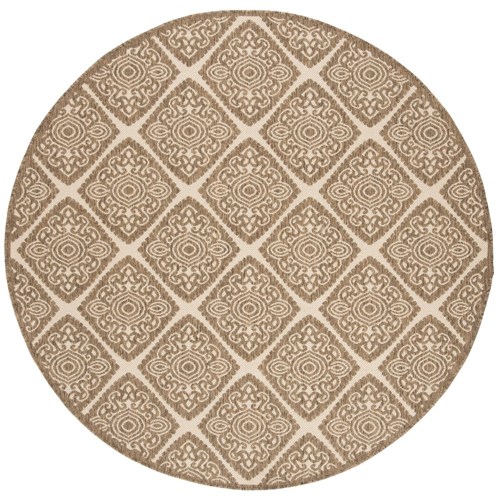 6'7 Medallion Loomed Round Area Rug Cream (Ivory) - Safavieh