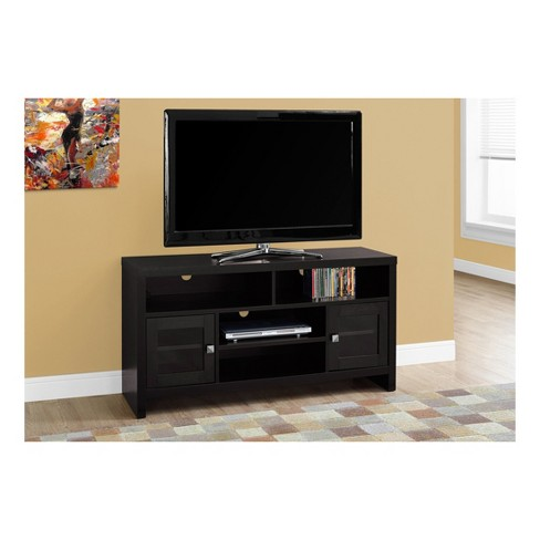 Tv Stand With Glass Doors Cappuccino Everyroom Target