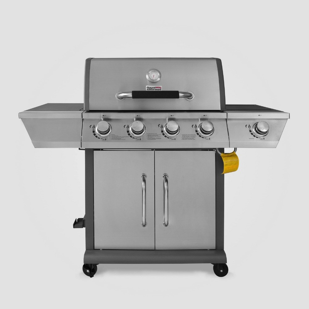 Stainless Steel 4 Burner Propane Gas Grill with Side Burner GG4302S Silver – Royal Gourmet 54442061