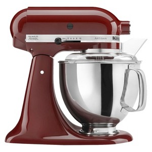 KitchenAid Artisan Series 5 Quart Tilt-Head Stand Mixer- Ksm150, Red Red