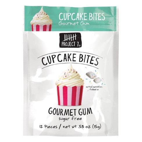 Project 7 Cupcake Bites Gourmet Gum - 12ct - image 1 of 1