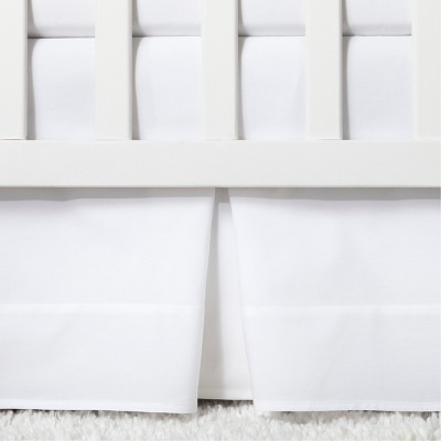 Crib Skirt Pleated - Cloud Island™ White