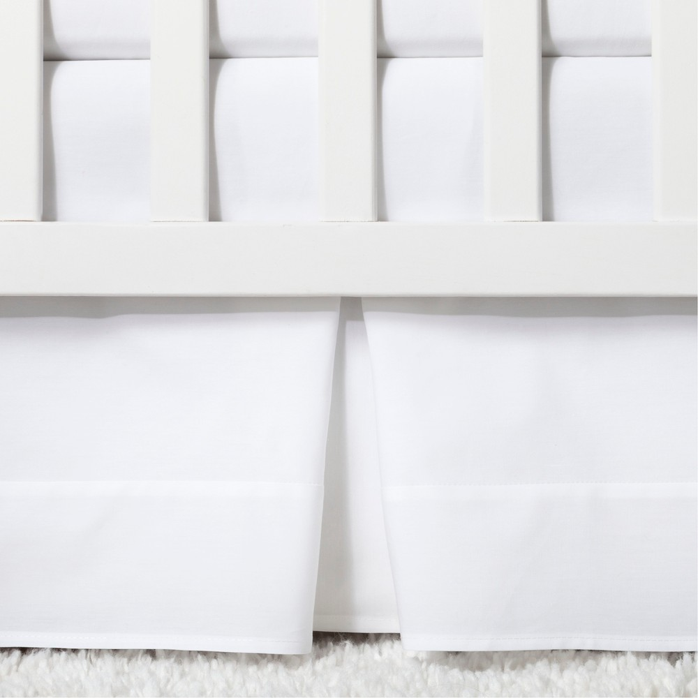 Image of Crib Skirt Pleated - Cloud Island White