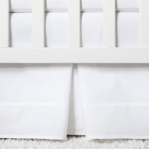 Crib Skirt Pleated - Cloud Island™ White - image 1 of 2