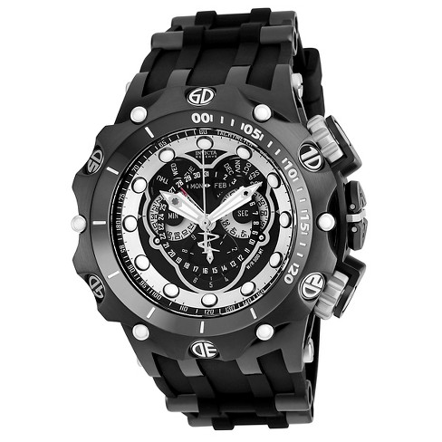 Men's Invicta 20431 Venom Quartz Multifunction Black Dial Strap Watch - Black - image 1 of 1