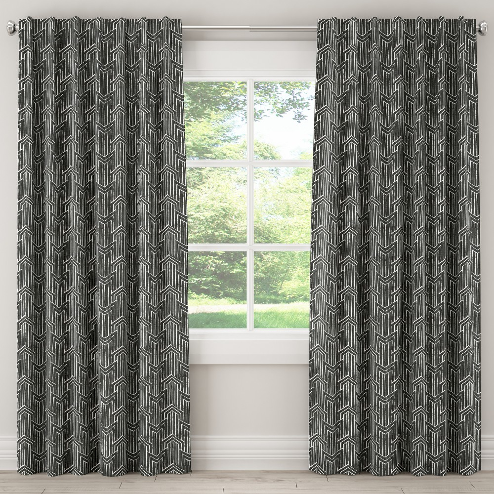Blackout Curtain Toledo Graphite Lux 84L - Skyline Furniture, Gray