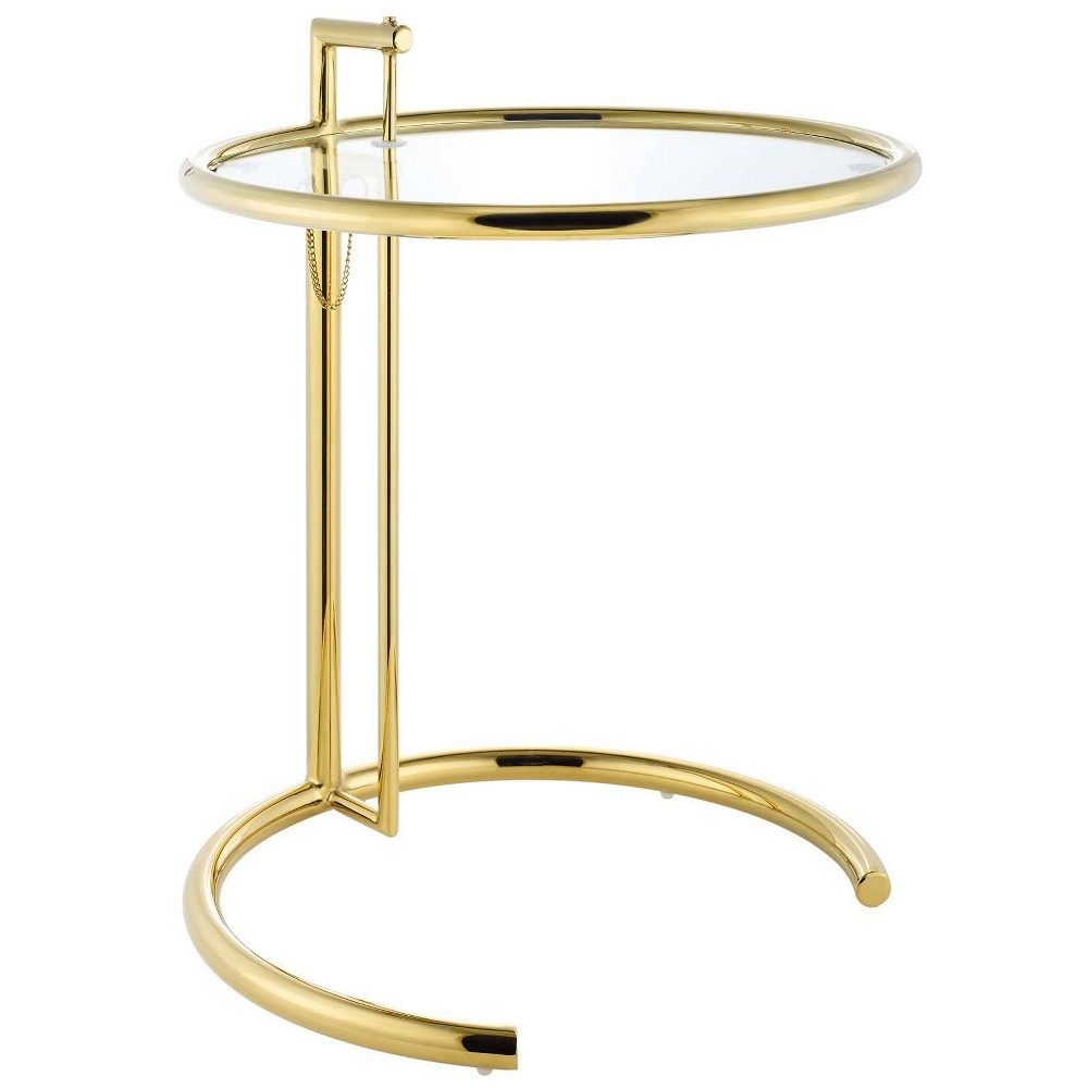 Image of Eileen Gold Stainless Steel End Table Gold - Modway