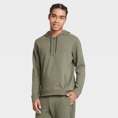 Men's Premium Fleece 1/4 Zip Hoodie - All in Motion™ Olive Green XL