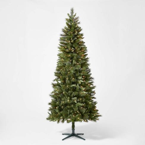 7.5ft Pre-lit Artificial Christmas Tree Douglas Fir Clear Lights - Wondershop™ - image 1 of 3