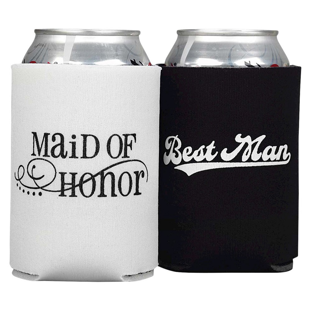 Image of Maid Of Honor And Best Man Can Coolers, Black