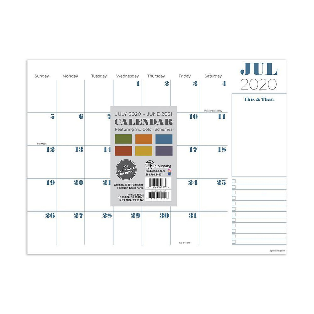 "Image of ""2020-21 Academic Desktop Calendar Professional Mini 9"""" x 12"""" - TF Publishing"""