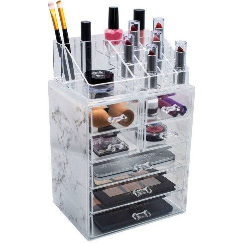 Sorbus Marble Cosmetic Makeup and Jewelry Storage Case (3 Large, 4 Small Drawers) - image 1 of 3
