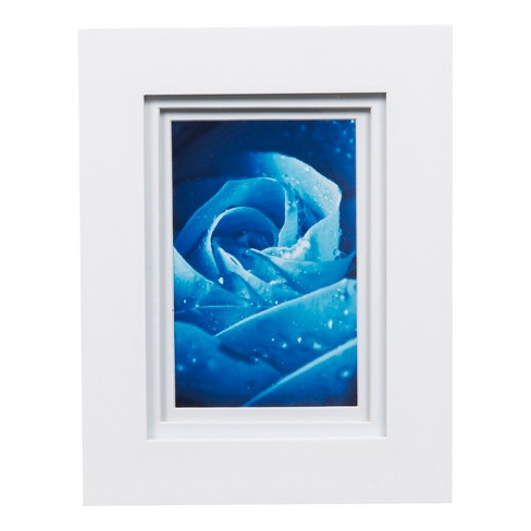Single Image 5x7 Wide Double Mat White 4x6 Frame Gallery Solutions