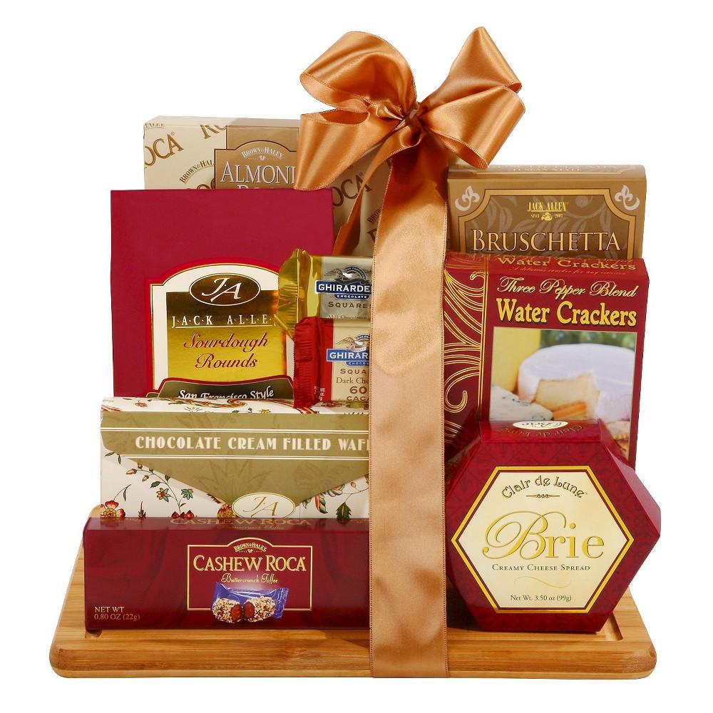 Alder Creek Gifts Burgundy & Gold Cutting Board Gift Set
