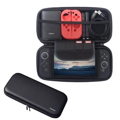 Insten Eva Travel Carrying Full Protection Case w/ 4 Game Cartridge Holders For Nintendo Switch, Black