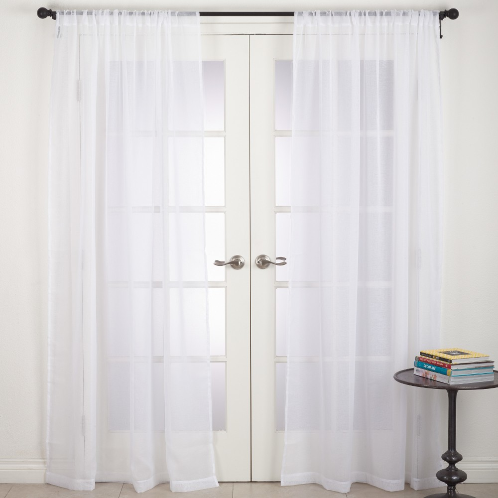 Curtain Panels Saro Lifestyle White Solid