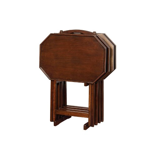 Wallace Tray Tables Espresso - Powell Company - image 1 of 4