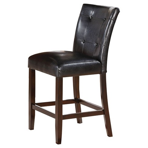 Easton Counter Height Dining Chair (Set of 2) - Brown Cherry - Acme - image 1 of 2
