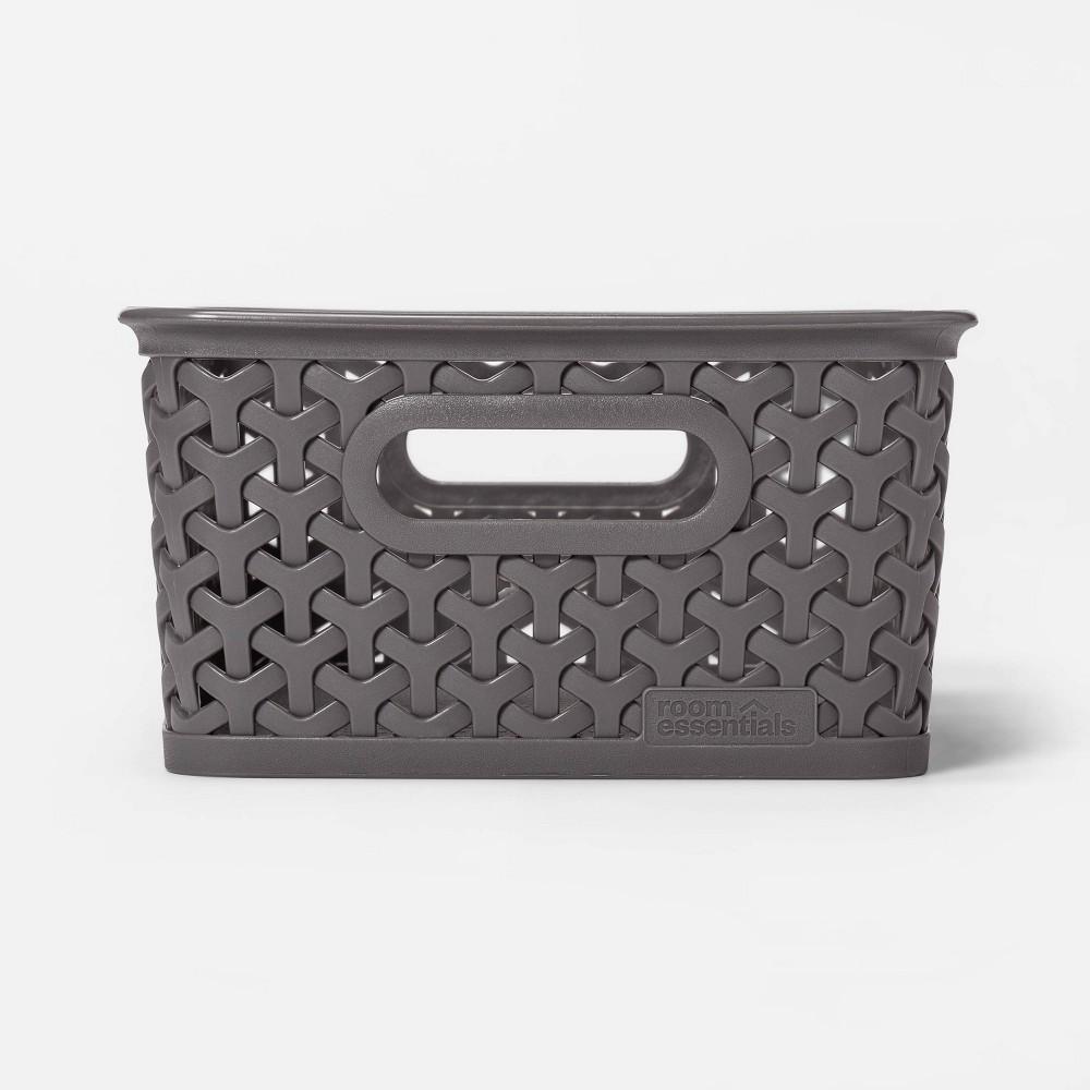 Y Weave Small Decorative Storage Basket Gray Room Essentials 8482
