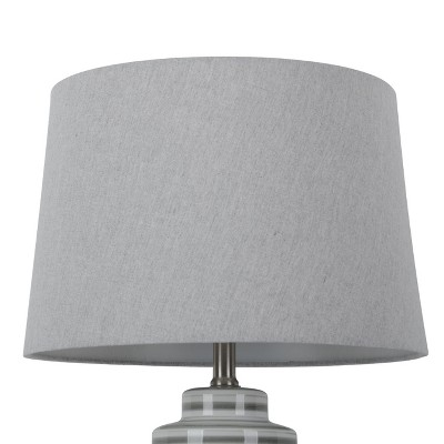 Large Linen Mod Drum Lampshade Gray - Threshold™