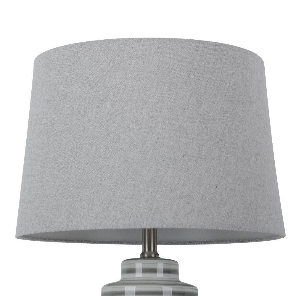 Image of Large Linen Mod Drum Lampshade Gray - Threshold
