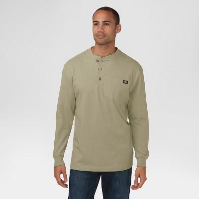 Dickies Men's Big & Tall Long Sleeve Heavyweight Henley T-Shirt