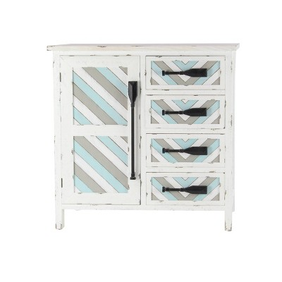 Wooden Chest with Oar Handles White - Olivia & May