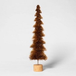 "16.5"" x 4.7"" Bottle Brush Sisal Christmas Tree - Threshold™"