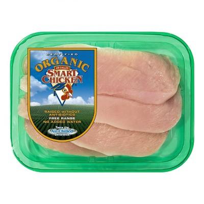 Smart Chicken Organic Boneless & Skinless Thin Sliced Chicken Breast - 0.75-1.5lbs - price per lb