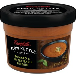Campbell's Slow Kettle Style Tomato & Sweet Basil Soup Microwaveable Bowl 15.5oz