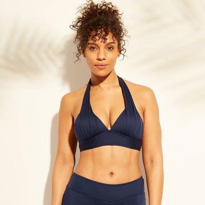 Women's Halter Bikini Top - Kona Sol™ Navy Blue S