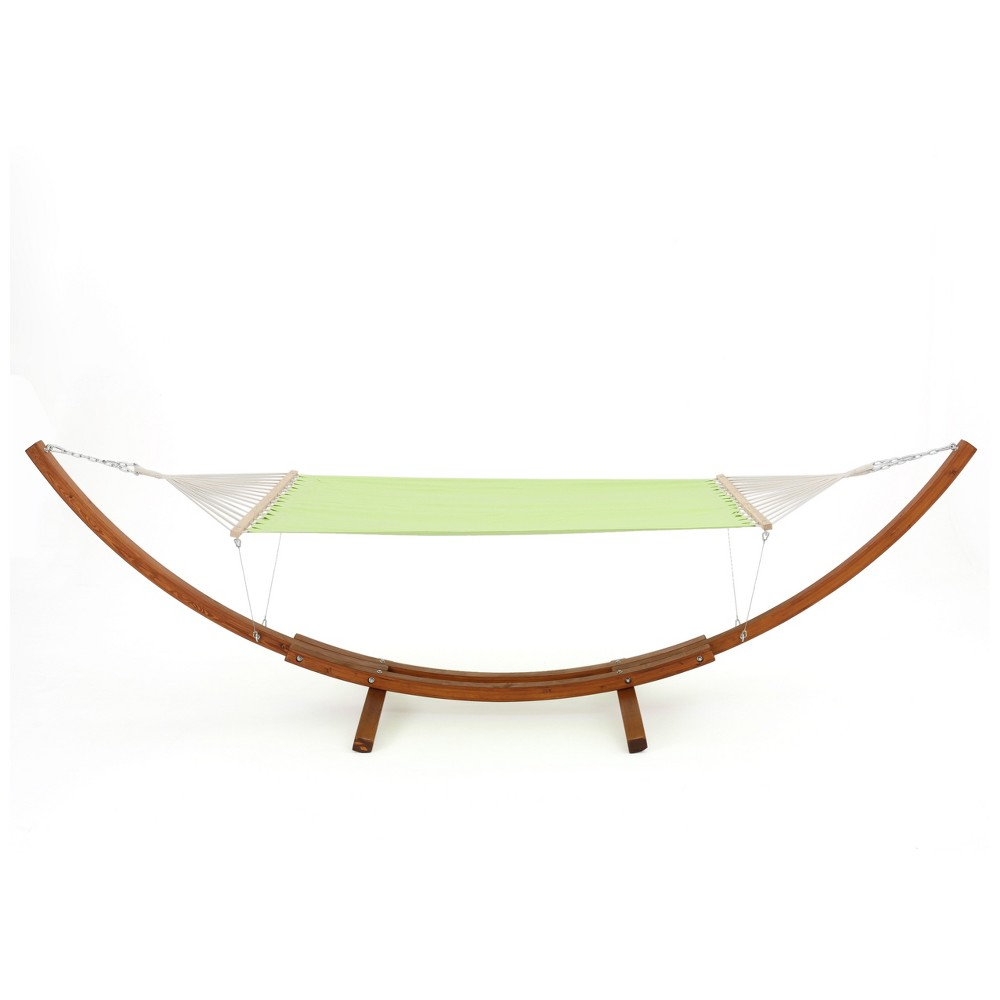 Richardson Outdoor Hammock With Base - Light Green - Christopher Knight Home, Pastel Green