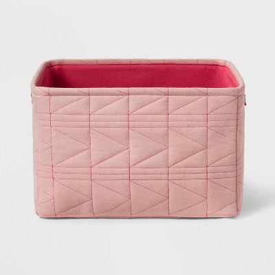 Large Quilted Toy Storage Bin Pink - Pillowfort™