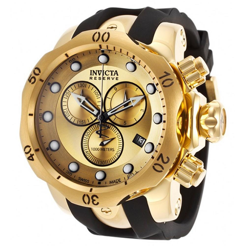 Men's Invicta 16985 Venom Quartz Chronograph with Dial Strap Watch - Gold