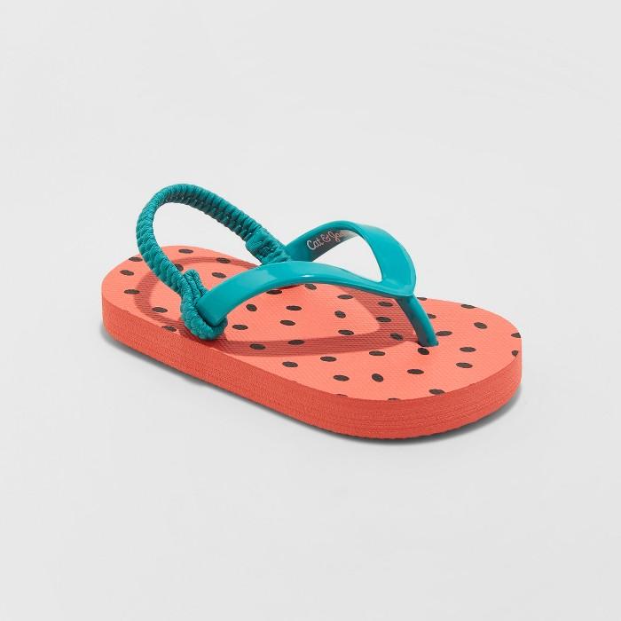 Toddler Girls' Keira Fruit Flip Flop Sandals - Cat & Jack™ Red - image 1 of 3