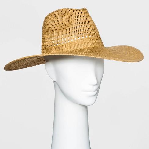 Women's Wide Brim Open Weave Straw Panama Hat - Universal Thread™ - image 1 of 1