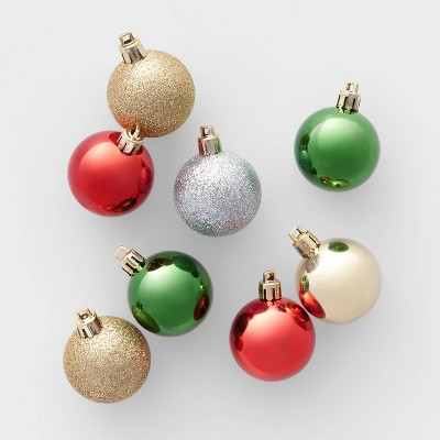 24ct Shatter Resistant 40mm Christmas Ornament Set Red Green Gold And Silver   Wondershop™ by Wondershop