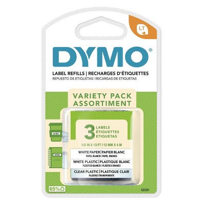 DYMO LetraTag 3pk Label Tape Clear/White Paper/White Plastic
