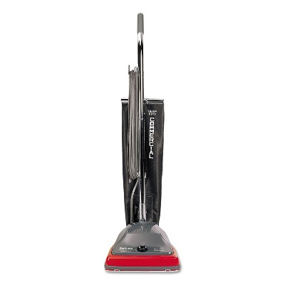 Sanitaire Upright Vacuum w/Shake-Out Bag, 12 lb, Gray/Red SC679K