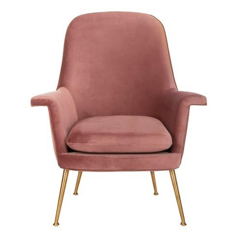 Aimee Velvet Arm Chair - Safavieh - image 1 of 8