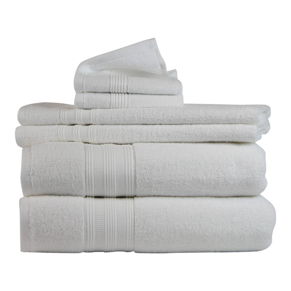 Image of 6pk Solid Bath Towel White - Freshee