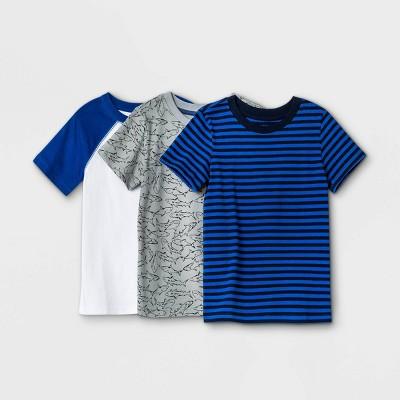 Toddler Boys' 3pk Crew Neck Short Sleeve T-Shirt - Cat & Jack™ Blue