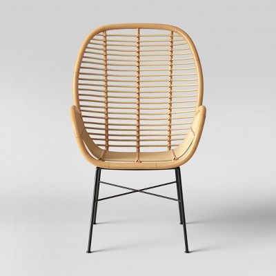 Lily Rattan Arm Chair with Metal Legs - Fully Assembled - Opalhouse™
